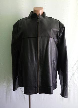 Куртка кожаная на крупного мужчину mitron, р. 56-60 . пр-во бо...