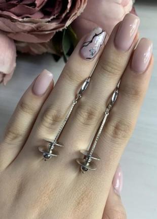 Серебряные серьги silverbreeze без камней (2035251)