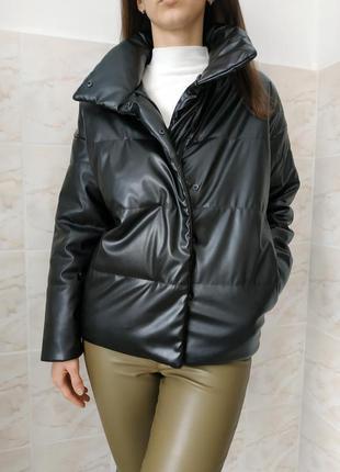 Куртка из кожзама, куртка на весну , женская куртка , куртка из