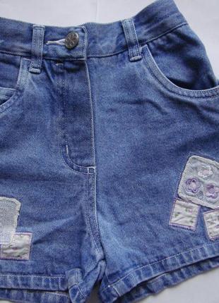 Джинсовые шорты девочке 6-7 лет Adams