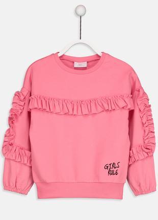 Розовая кофточка на 7-8 лет