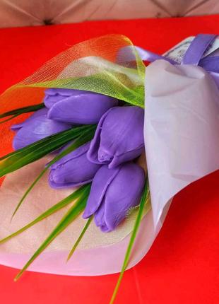 Мыло ручной работы. Тюльпаны из мыла. 8 марта