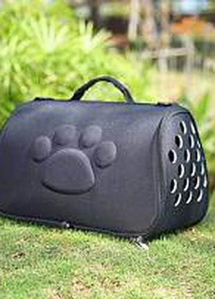 Сумка - переноска для кошек, собак, в черном цвете