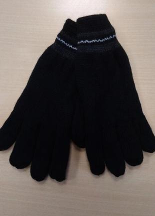 Перчатки, мужские, теплые, вязаные, двойные, на флисе, c&a, l, xl