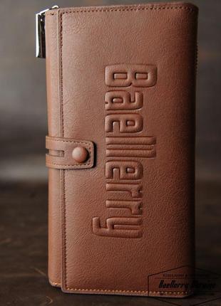 Baellerry guero - мужское бизнес портмоне, клатч ( коричневый )