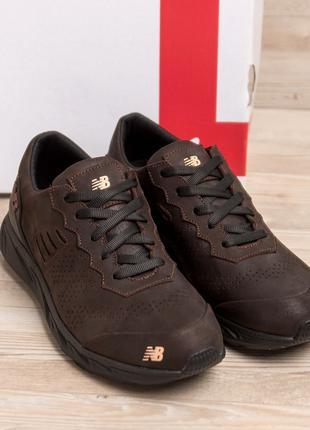 Мужские кожаные кроссовки New Balance Clasic Chocolate(40-45р)