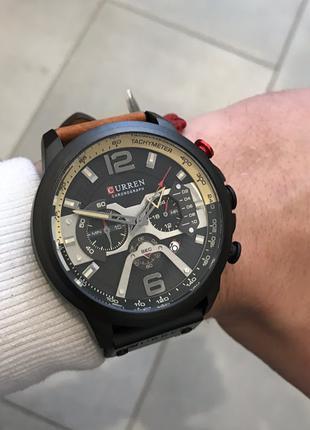 Наручные часы Curren 8329 Black-Brown Наручний годинник, часи