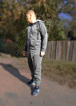 Теплый спортивный костюм мужской