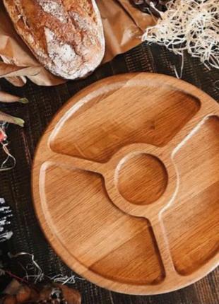 Менажница, Посуда из дерева, Тарелка