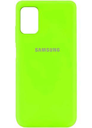 Чехол Silicone Cover Samsung Galaxy M51 (Салатовый)