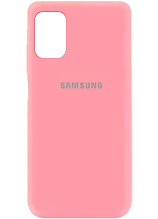 Чехол Silicone Cover для Samsung Galaxy M51 (Розовый)