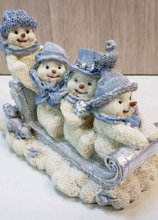 Статуэтка фигурка коллекция Снеговики на санках (Germany)