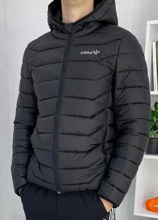 Куртка стеганная демисезонная короткая adidas | стьобана весна...