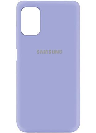 Чехол Silicone Cover  для Samsung Galaxy M31s (Сиреневый)