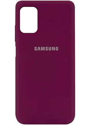 Чехол Silicone Cover для Samsung Galaxy M31s (Бордовый)