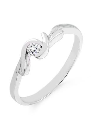 Золотое кольцо с натуральным бриллиантом 0,08 карат. НОВОЕ