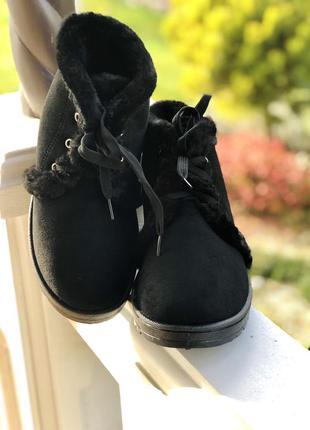 Чёрные угги на шнуровке/унисекс/ распродажа