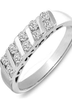 Золотое кольцо с бриллиантами 0,50 карат 17 мм. НОВОЕ Код: 17234