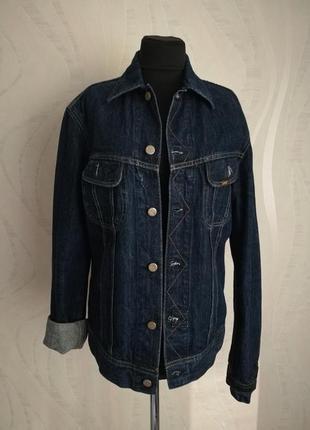 Брендовая джинсовая куртка жакет пиджак lee оригинал (оверсайз)