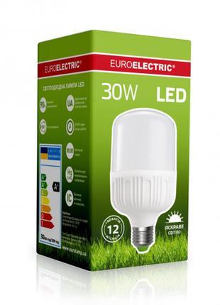 Светодиодная EUROELECTRIC LED Лампа высокомощная 30W E27 4000K