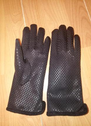 Теплые перчатки, с мехом.