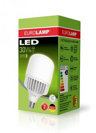 Светодиодная лампа высокомощная 30W E27 4000K Eurolamp LED-HP-302