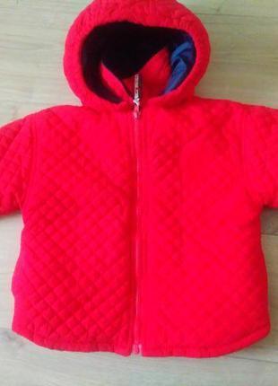 Дитяча куртка з капюшоном c&a baby club / детская  стёганая