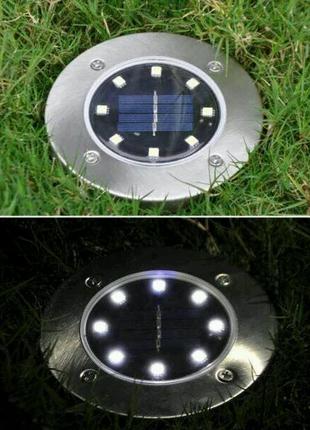 Уличный садовой светильник на солнечной батарее