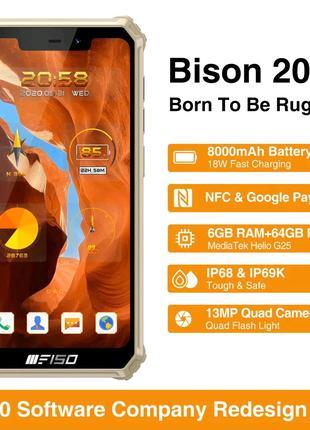 Oukitel F150 Bison, 6/64гб, 8000mla, Android 10.гарантия 6 мес.