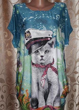 ✨✨✨красивая женская футболка, блузка батального размера🔥🔥🔥