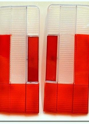 2106 рассеиватель заднего фонаря красно белые