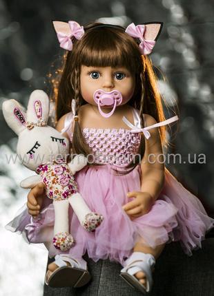 Кукла Реборн 55 см полность силиконовая reborn куклы большие