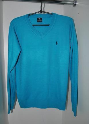Продам новый мужской свитер polo ralph lauren usa синий s-m ор...