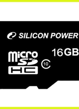 Карта памяти microSD class 10 16Gb для Xiaomi Meizu Silicon Power
