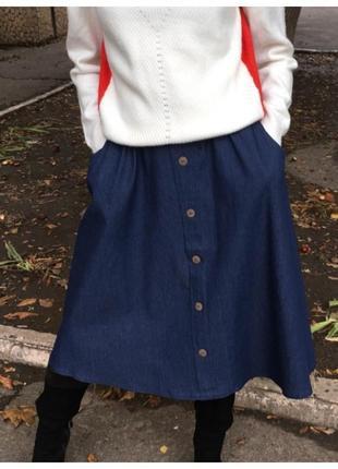 Классная юбка из коттона.