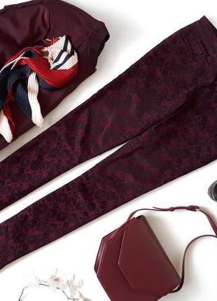 #розвантажуюсь бордовые джинсы amisu в черный велюровый набивн...