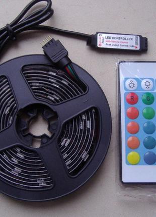 Светодиодная LED лента 5050 RGB 2 метра (питание от USB) для ТВ