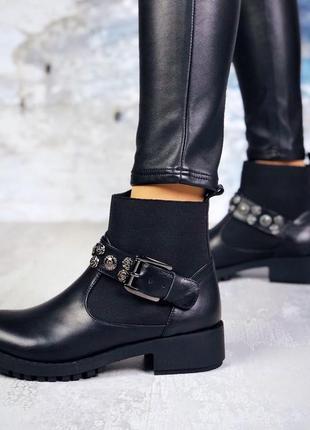 Эксклюзив натуральная кожа люксовые кожаные осенние ботинки с ...