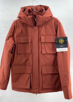 ❄️парка stone island❄️тёплая курточка, красная, хаки, стон айл...