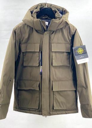 💎парка stone island💎 курточка мужская хаки стон айленд