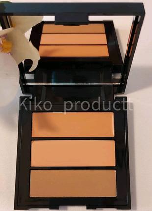 Палітра з 3 пудрами для обличчя KIKO On The Go Face Palette