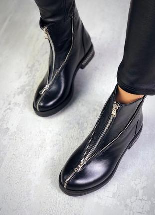 Эксклюзив! натуральная кожа люксовые кожаные осенние ботинки с...