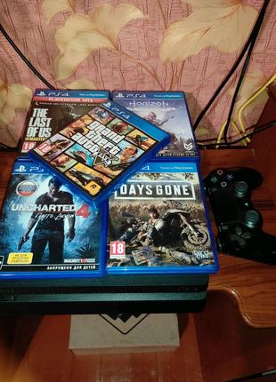 Sony Playstation 4 slim 1Tb + 11игр