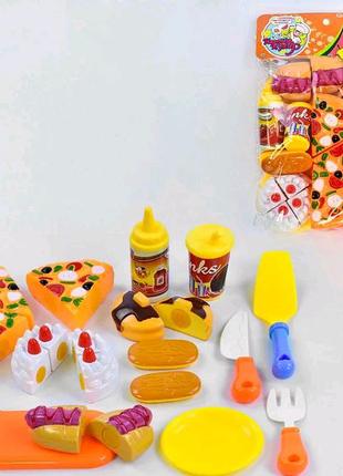 Продукты на липучке и пицца на липучке (торт на липучке).