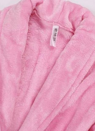 Халат плюшевый розовый