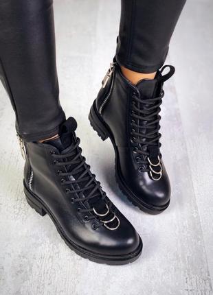 Эксклюзив! натуральная кожа эффектные осенние кожаные ботинки ...