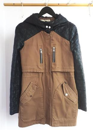 #розвантажуюсь парка pull&bear куртка рукава из кожзама стеган...