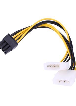 ATX 8 pin - 2 molex Кабель Питания для видеокарт 8pin - 2molex
