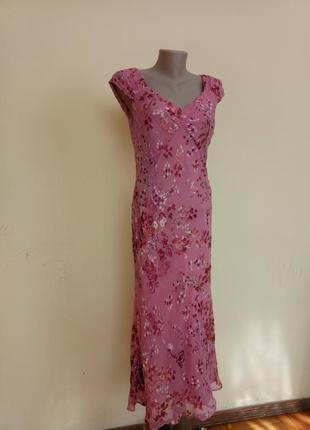 Шикарное вечернее платье шелк