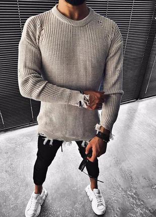 Мужской теплый и приятный к телу свитер